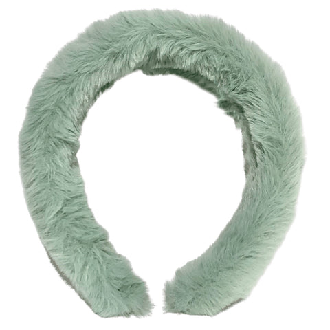 Plush Fuzzy Headband - Mint