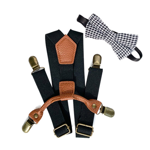 Buckle Up Suspender Set - Checkers