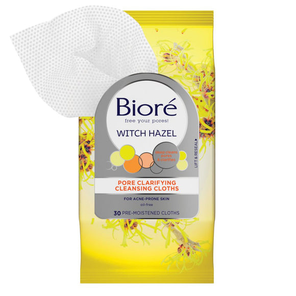 Biore Witch Hazel Pore Clarifying Cleansing Cloths