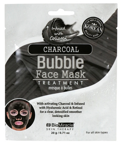 Bio Miracle Charcoal Bubble Face Mask Treatments, 0.71 oz.