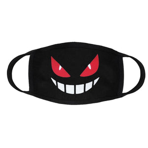 Red Eyes and Teeth Face Mask