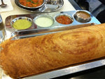 Stainless Steel Rectangular Dosa Mess Tray with 4-Bowls and 1-compartment- 16""