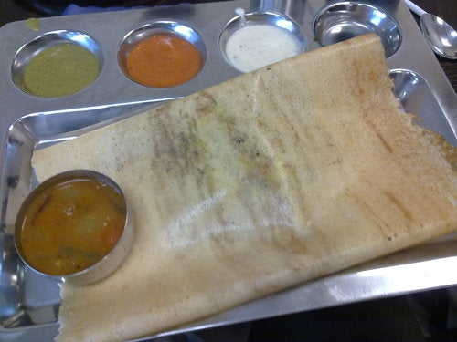 Stainless Steel Square Dosa Mess Tray - 16""