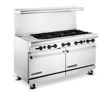 "American Range AR-24G-6B 60"" Wide Heavy Duty 24"" Griddle & 6 Burners Restaurant Range"