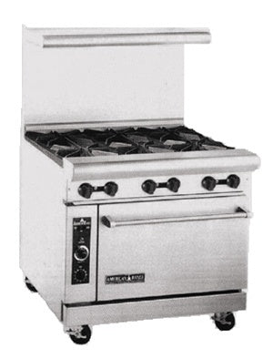 "American Range AR-6 Heavy Duty 36"" Gas Range - 6 Burners, 1 Oven"