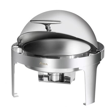 ATOSA Stainless Steel Round Roll Top Chafer - 6 Qts.