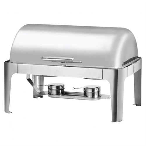 Stainless Steel Full Size Roll Top Chafer - 8 Qts.