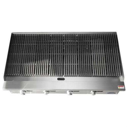 ATOSA 48 Inch Char-rock  Broiler with Total 140,000 BTU