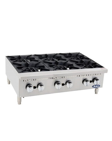 ATOSA 36 Inch (6)burner hotplate with total 150,000 BTU