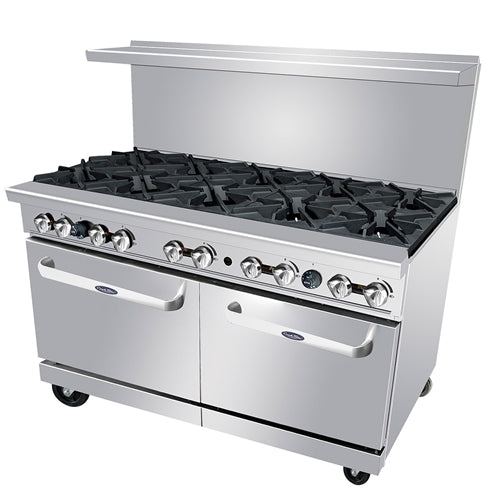 Atosa ATO-10B, 60-Inch 10 Burners Heavy Duty Gas Range with Double Oven
