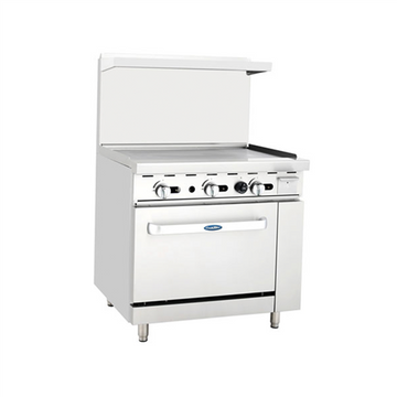 ATOSA ATO-36G, 36-Inch Heavy Duty Gas Range with Griddle Top and Single Oven