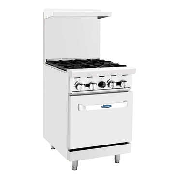 Atosa ATO-4B, 24-Inch 4 Burner Heavy Duty Gas Range Single Oven