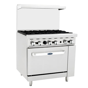 Atosa ATO-6B, 36-Inch 6 Burner Heavy Duty Gas Range Single Oven