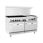 ATOSA ATO-6B24G, 60-Inch 6 Burners Heavy Duty Gas Range with 24-Inch Right Griddle and Single Oven