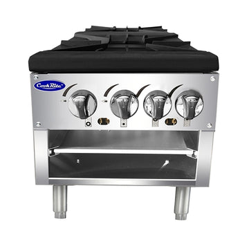 Atosa ATSP-18-2L, 21-Inch Gas Double Burner Stock Pot Stove (Lower version)