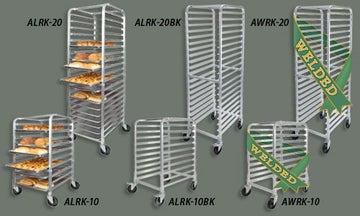 Winco AWRK-10 10-Tier Aluminum Pan Rack Welded, NSF