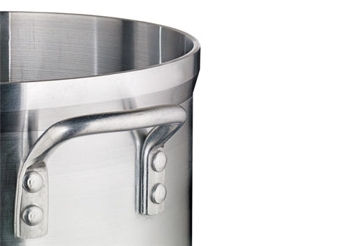 "Extra Heavy 1/4"" (6 mm) Aluminum Stock Pot- 40 Qts."