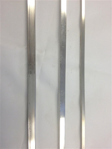 Stainless Steel BBQ Skewers for Kebab -Rectangle - 6 mm Thick