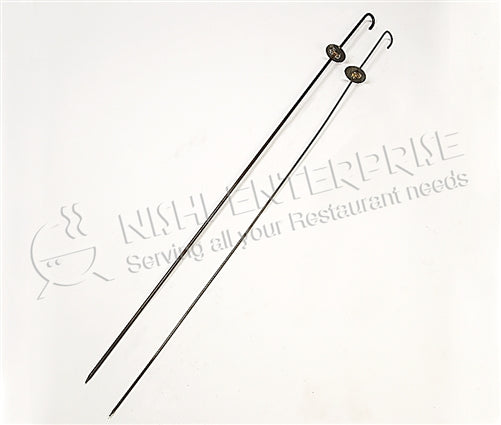 BBQ Skewers - Round-with Stopper -  3 mm Thickness