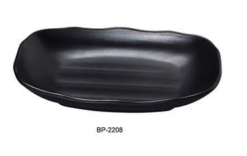 "Yanco BP-2208 Black pearl-1 New Rectangular Bowl, 8.75"" Length, 5.5"" Width, Melamine, Black Color with Matting Finish, 48/case"