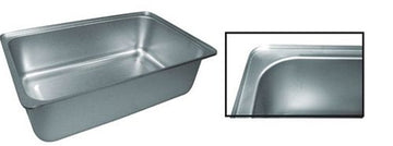 "Stainless Steel Full Size Spillage Pan - 6"" Deep (NSF)"