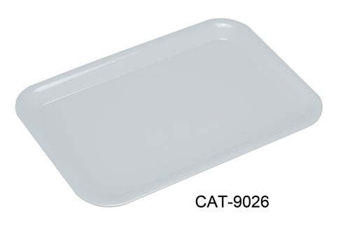 "Yanco CAT-9026 Catering Cake Plate, 15"" Length, 10.5"" Width, Melamine, White Color, Pack of 24"
