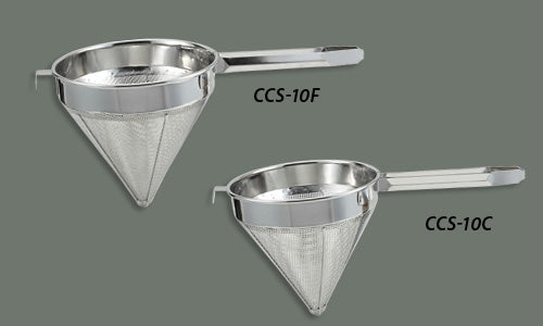 Winco CCS-10F 10-in Fine Mesh Strainer, Stainless Steel China Cap