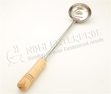 5 Oz. Stainless Steel Ladle / Scoop with Long Wood Handle- 19.5""