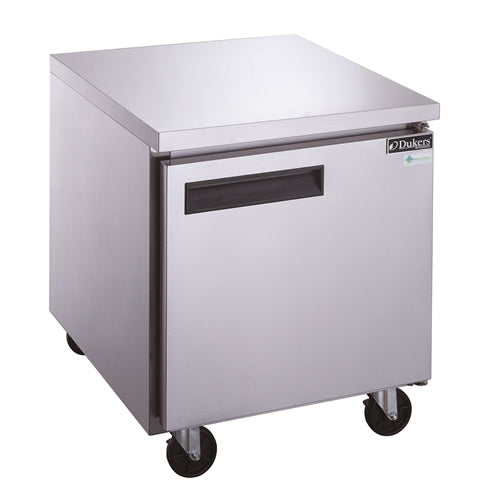 Dukers DUC29F Single Door Undercounter Freezer in Stainless Steel