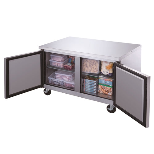 Dukers DUC48F 2-Door Undercounter Freezer in Stainless Steel