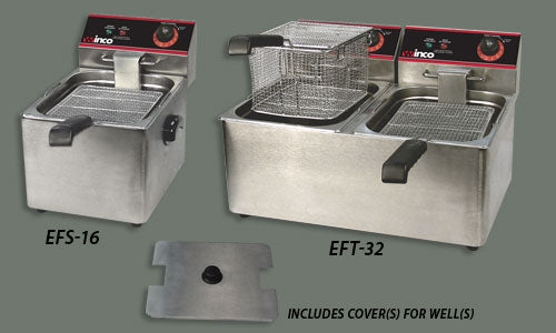 Winco EFT-32 Electric Deep Fryer, Double Well, 32 lbs. Oil Capacity