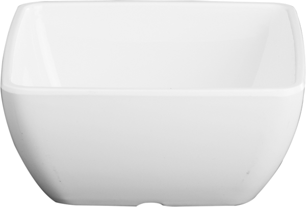 Melamine Square Bowl 7.5 inch, 67.6 Oz. White, Pack of 6