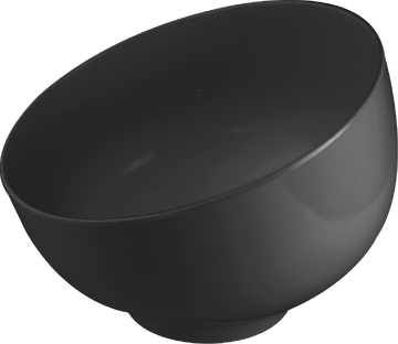 Melamine Ball Bowl 33.8 Oz./1 Qts.  Black, Pack of 3