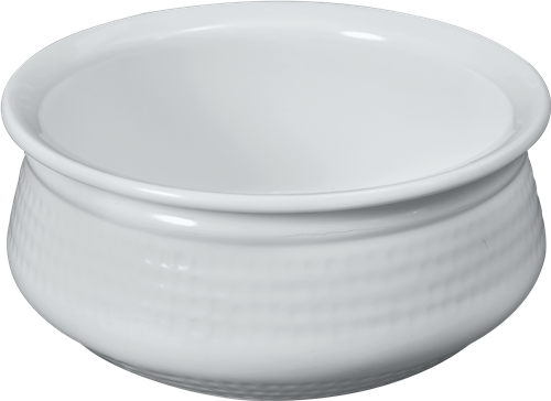 Melamine H-2384 Dotted Handi Bowl, 5 inch White 15 Oz.  24/CS