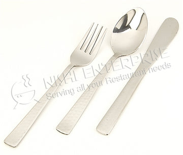 Hammered 18/8 Stainless Steel Dinner Fork