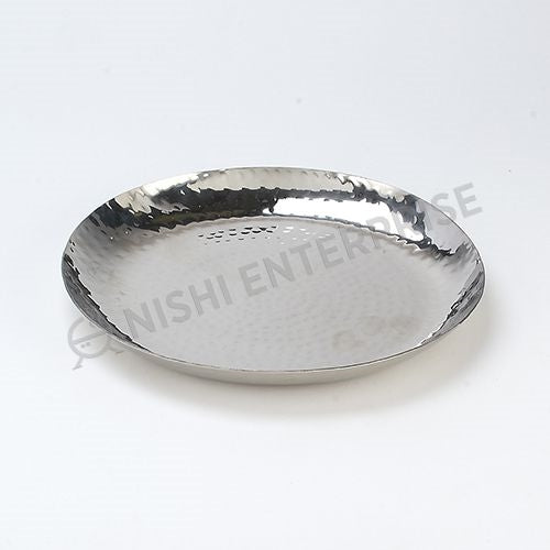 Hammered Stainless Steel Side Plate 7 inch