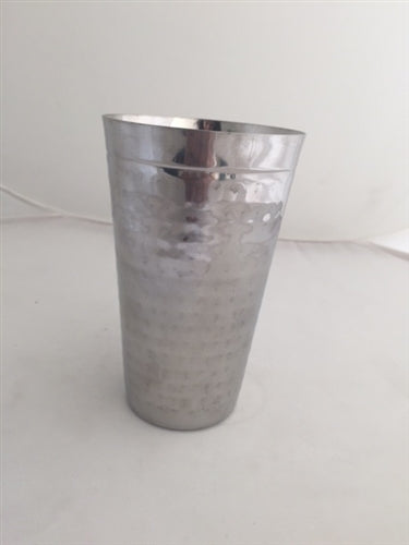 Hammered Stainless Steel Lassi Glass - 22 Oz.