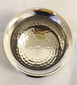Hammered Stainless Steel Dal Dish 24 Oz.