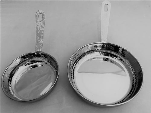 Serving ware Hammered Stainless Steel Mini Fry Pan # 1 -  12 oz.