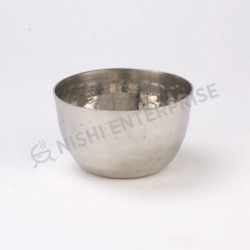 Stainless Steel Hammered Katori Bowl 6 oz