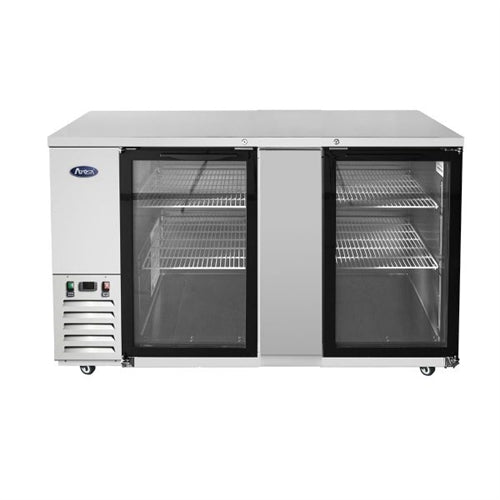 ATOSA MBB69GGR  69-Inch Glass Door Back Bar Cooler
