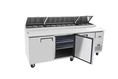 ATOSA MPF8203GR 93 Inch 3-Door Pizza Prep Table
