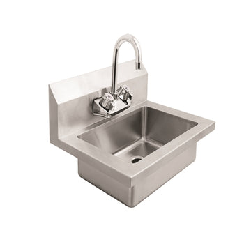 ATOSA MRS-HS-18 Hand Sink with 8 Inch Back Splash Lead Free Faucet Included