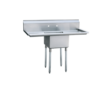 ATOSA MRSA-1-D One Comp. Sink, 18 Inch with Right And Left Drainboards