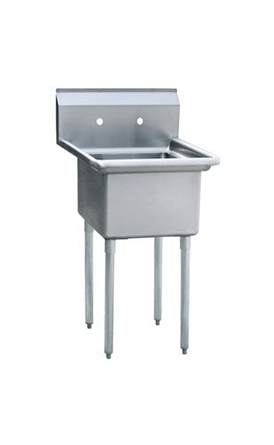 ATOSA MRSA-1-N Prep Sink with Adjustable Plastic Bullet Feet