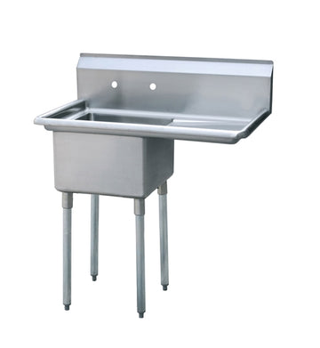 ATOSA MRSA-1-R One Comp. Sink, 18 Inch with Right Drainboards