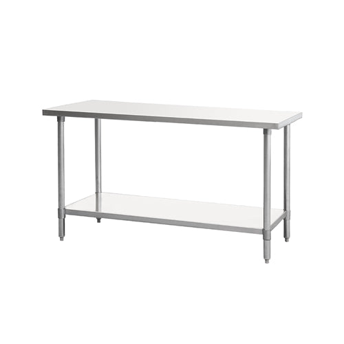 ATOSA MRTW-2448, 48 x 24-Inch All Stainless Steel Work Table With Undershelf, NSF