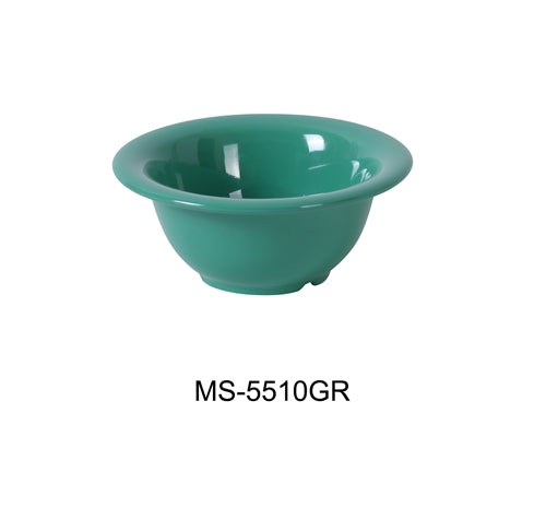Yanco MS-5510GR Mile Stone Soup Bowl, 10 Oz. Melamine, Green, Pack of 48