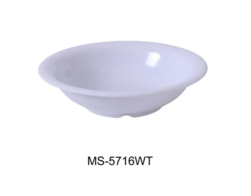 Yanco MS-5716WT Mile Stone Soup Bowl, 16 Oz., Melamine, White, Pack of 48