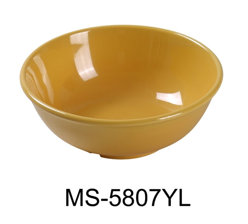 Yanco MS-5807YL Mile Stone Salad Bowl, 24 Oz. Melamine, Yellow , Pack of 24